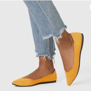 Rothy's Marigold Yellow The Point Ballet Flats